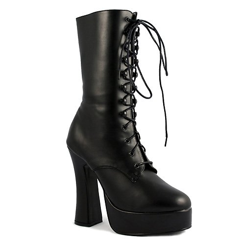 """ELECTRA-1020 5"""" Lace-Up Ankle Boot, Black Pu-Size 10"""