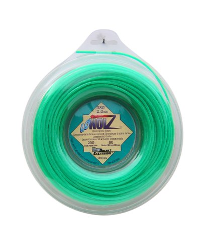 LoNoiz Commercial Grade LN080DS-12 .08-Inch-by-200-Foot Spool of Spiral Twist Quiet (Trimmer Line Green)
