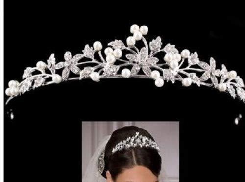 Cristal de marié e diadè me Couronne perles strass bandeau cheveux pour mariage HESHIFENG. party & accessories