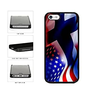 Finland and USA Mixed Flag Plastic Phone Case Back Cover Apple iPhone 5 5s