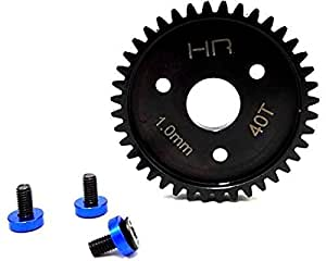 Hot Racing Steel Spur Gear 40T 1. 0 Mod, Blue: Traxxas