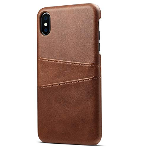 Case Compatible iPhone Xs MAX, 6.5 inches, Ultra-Slim Leather Wallet Case with Credit Card Holder Brown Case