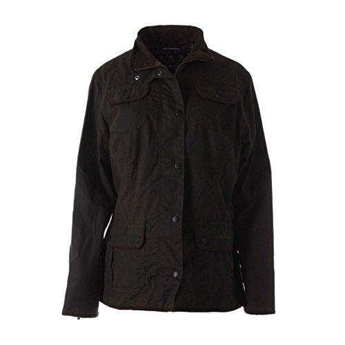 Barbour Fleece Jacket - Barbour Womens Cotton Utility Athletic Jacket Brown 14