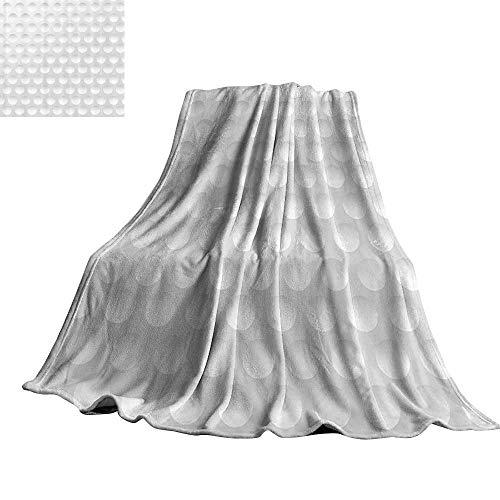 WinfreyDecor Grey Decor Blanket Sheets Circle Rounds Design Spherical Golf Balls Club Recreation Sports Hobby Themed Image 60