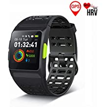 GPS Running Watch,S8 Smart Watch HRV Analysis Heart Rate/Sleeping/Fatigue Monitor IP67 Waterproof Fitness Tracker with Multi-Sports Mode Message Notifications Color Touch Screen For Android and IOS