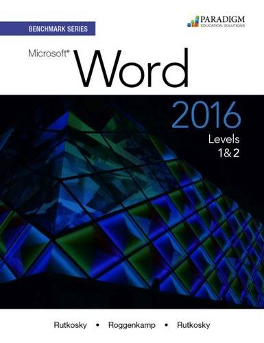 Benchmark:Ms.Word 2016,Levels 1+2 Pkg.