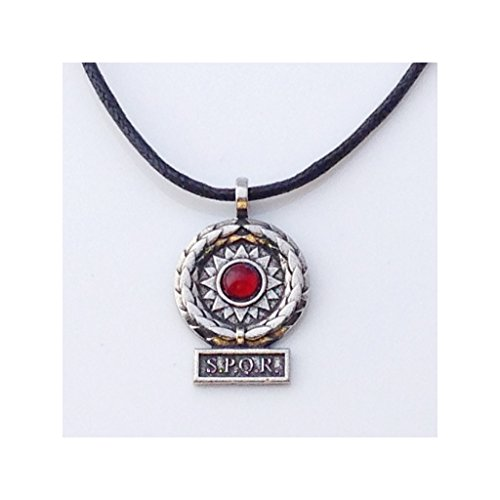 SPQR Roman Victory Pendant Unisex Historical Costume Necklace (Roman Empire Costume)