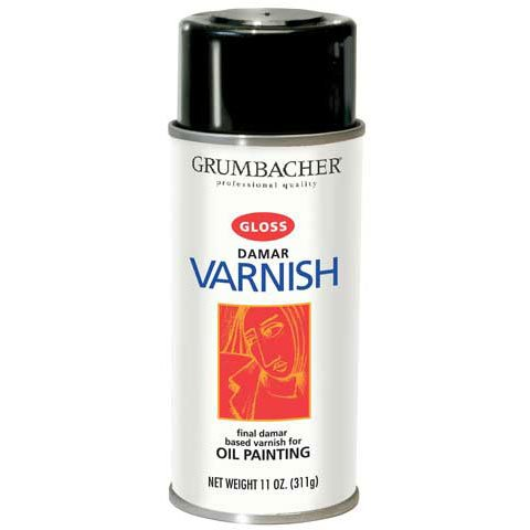 (Grumbacher - Damar Varnish - 12-3/4 oz.- Gloss)