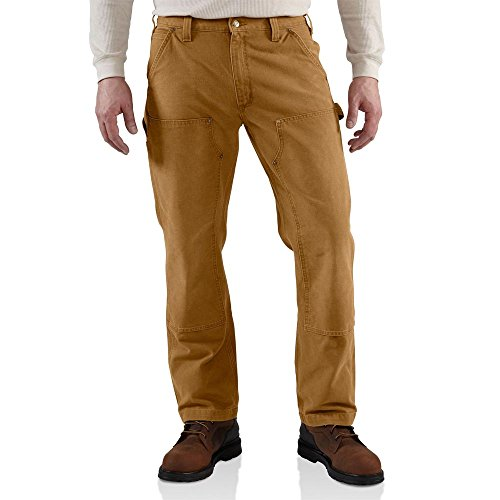 Canvas Relaxed Fit Jeans (Carhartt Men's Weathered Duck Double Front Dungaree Relaxed Fit,Carhartt Brown,30 x 30)
