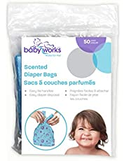 Baby Works Disposable Scented Diaper Bags, 50-Count (Color and Packaging May Vary)
