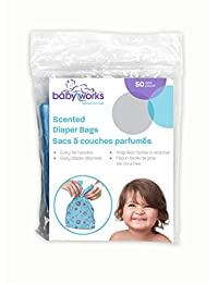 Baby Works Scented Diaper Disposable Bags | Perfect for Pets and Trash | Baby Powder Scent Neutralizes Odors