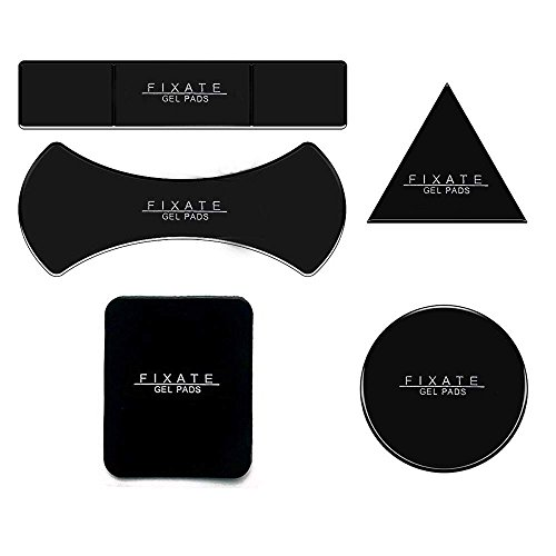 Mirror Suction Pad (Multi Purpose Nano Sticky Gel Pads, for Car Holder Mat Cell Phone Sticky to Toilet Wall Glass Mirrors, Dashboard, Kitchen, Office, Cabinets (Black 5))