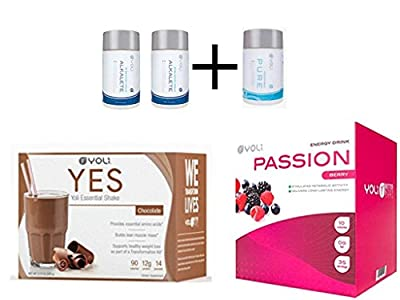Yoli Diet Kit Chocolate Protein Powder Box 2 Alkalete 1 Pure Passion Berry Packets