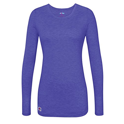 Royal Blue Heather (Sivvan Women's Comfort Long Sleeve T-Shirt / Underscrub Tee - S8500 - Heather Royal Blue - XL)