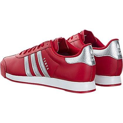 timeless design 6ddf8 d8f35 ... adidas Men s Samoa Scarlet Silver Metallic FTW White Ankle-High Leather  Fashion Sneaker ...