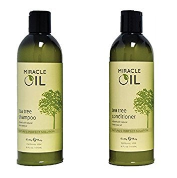 Earthly Body Miracle Oil Tea Tree Shampoo & Conditioner S...