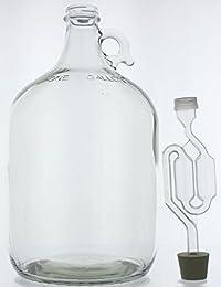Access 1 Gallon Glass Wine Fermenter-INCLUDES Rubber Stopper and Twin Bubble Airlock cheapest