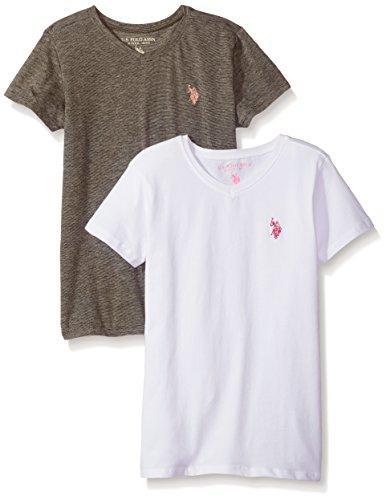 U.S. Polo Assn. Girls Big 2 Pack Short Sleeve T-Shirt