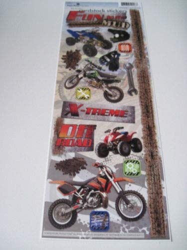 Sticker Scrapbooking Cardstock Paper House Fun Mud Off Road Motorcycles (Discount Scrapbook Stickers)