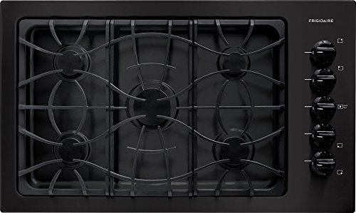 36 gas range black - 4