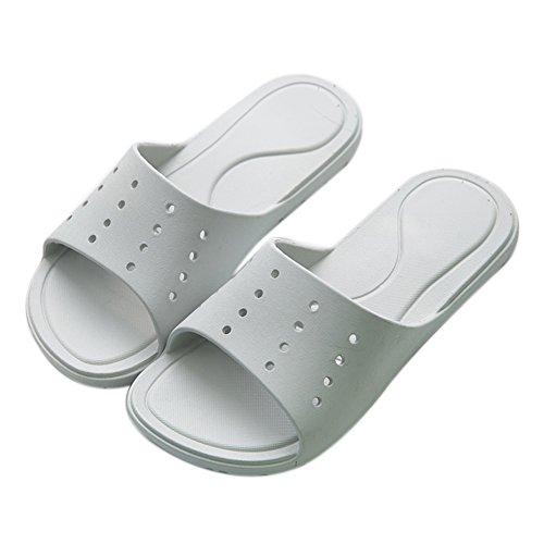 Hotel Slippers Female Slide Anti Light Gray Men's Bathroom Cool TELLW Men Summer Slippers Super Bath wqUZZ7