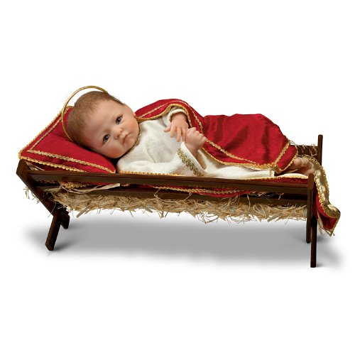 Baby Jesus Manger - Linda Murray Jesus, The Savior Is Born Porcelain Baby Doll by The Ashton-Drake Galleries