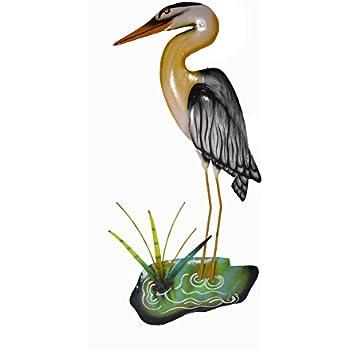 Amazon Com Heron Crane Egret Bird Silhouette Square
