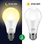 #LightningDeal Govee Dusk to Dawn Light Bulb, 9W (70 Watt Equivalent) 800lm Light Sensor Led Bulbs, Smart Automatic On/Off, Indoor/Outdoor Lighting Bulb for Porch, Hallway, Patio, Garage 2 Packs (Warm White E26/E27)