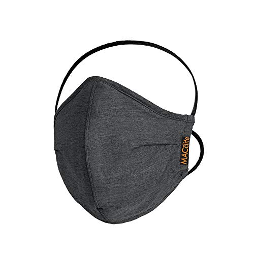 Macclite – Reusable Outdoor Face Mask – Cotton For Adult – Everyday Mask – Safe – Smart – Fashionable -Washable-Black Price & Reviews