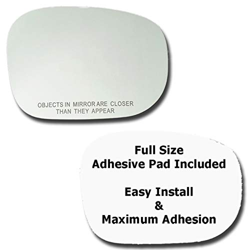 Mirror Glass + Full Size Adhesive Pad for 1999-2004 Nissan Pathfinder Passenger Side Replacement