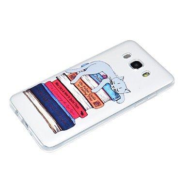 Casos hermosos, cubiertas, Caso para la galaxia j7 de Samsung 2017 j5 2017 caso del teléfono el patrón del gato realza la caja material j3 2017 del teléfono del tpu ( Modelos Compatibles : Galaxy J7(2 Galaxy J5(2016)