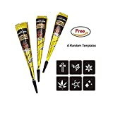 Temporary Tattoo, Color Black (3 Pack)