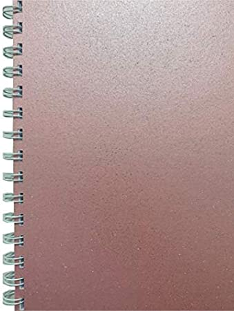 Various Sparkle Coloured Premuim A5 Wirebound Notepad in Amber Squared Notebook 160 Pages Packitsafe 80 Sheets