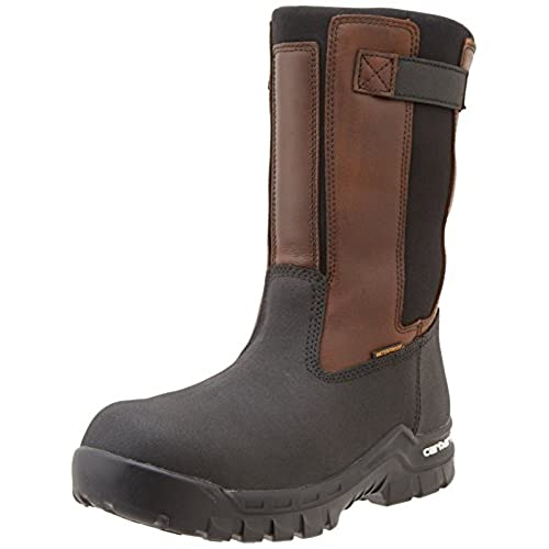 "Carhartt Men's 10"" Wellington Waterproof Leather Pull On Boot"