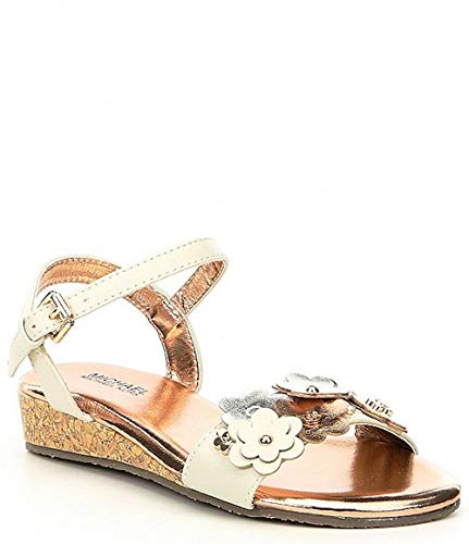 Michael Kors Kids Girls Perry Tansy Buckle Ankle, Vanilla, Size 5 M Us ()