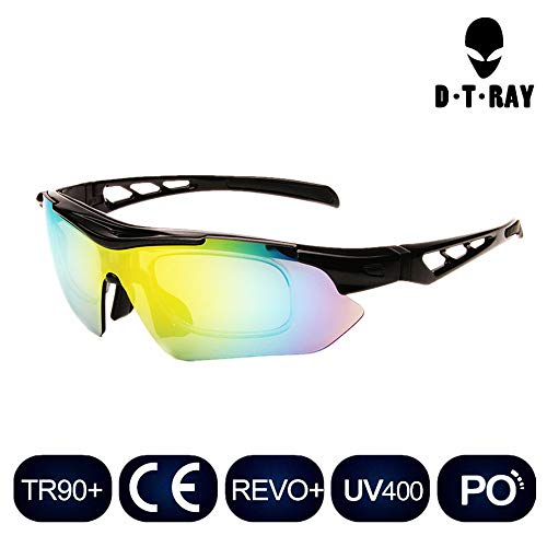 Polarized Sports Glasses Bike Sunglasses for Men Women Youth Cycling Running Driving Fishing Golf Baseball Explosion-proof Lenses