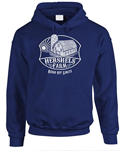 The Goozler Hershel's Farm - Dead Zombie Funny Walking - Mens Pullover Hoodie, M, Navy]()