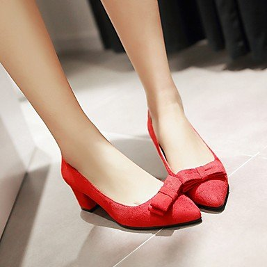 Le donne sexy elegante sandali donna tacchi Primavera Estate Autunno altri PU Ufficio Outdoor & Carriera Casual Chunky Heel altri grigio rosso altri , rosso , us8.5 / EU39 / uk6.5 / CN40