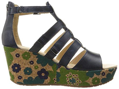 Caterpillar Womens Westwood Sandalo Con Zeppa Blu