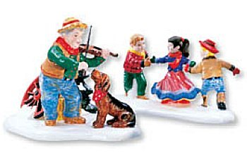 At The Barn Dance, It's Allemande Left (Set of 2)- Department 56 (Retired)