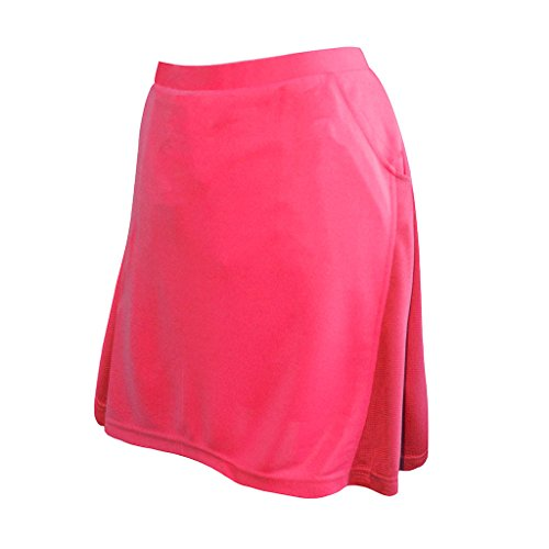 Monterey Club Ladies Contrast Side Flurry Pull-on Knit Skort #2901 (Berry, Medium) by Monterey Club