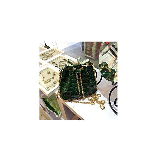 FTSUCQ Womens Bucket Alligator Business Totes Shoulder Messenger Bags Handbags Green - Hobo Animal Print
