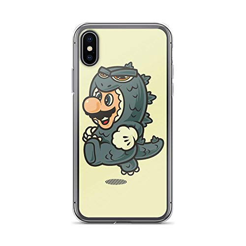 iPhone X/XS Pure Clear Case Cases Cover Super Jump Goji God-Zilla Art Cute