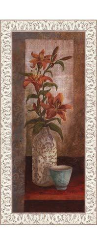 (Poster Palooza Framed Spiced Jewels I - Mini- 8x20 Inches - Art Print (White Wash Frame))