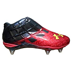Under Armour Team Mercenary 5/8 Detachable Wide Football Cleats (13, Black/Red)