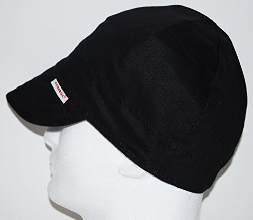 Comeaux Caps Single Sided Solid Black Welding Hat Size 7 1/4