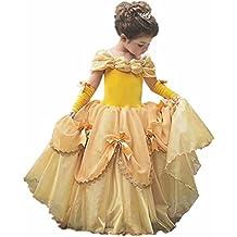 Girls Princess Belle Costume Dress up Gloves Halloween Party