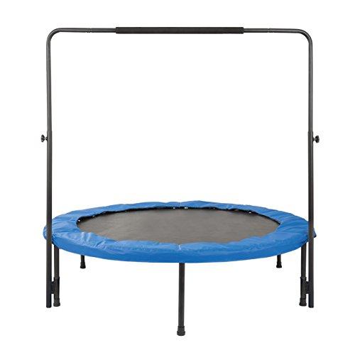 Fitness-Trampolin con un diametro de 140 cm con barra de sujecion
