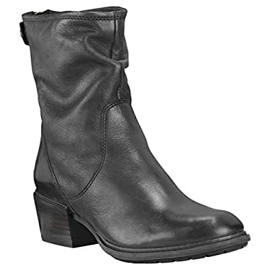 Timberland Womens Sutherlin Bay Slouch Mid Back Zip Boot, Black/Jet Black, Size 7.5