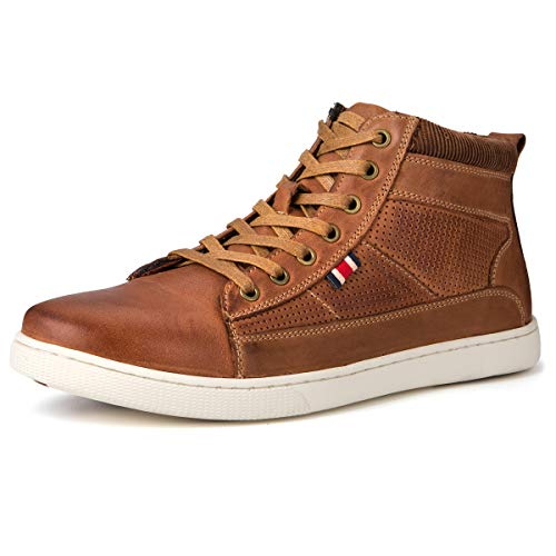 (Jivana Men's Sneaker Boot Casual Shoes Lace-up(10, Brown-21))